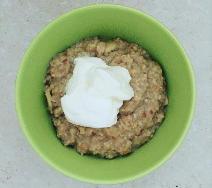 banana peanut butter porridge