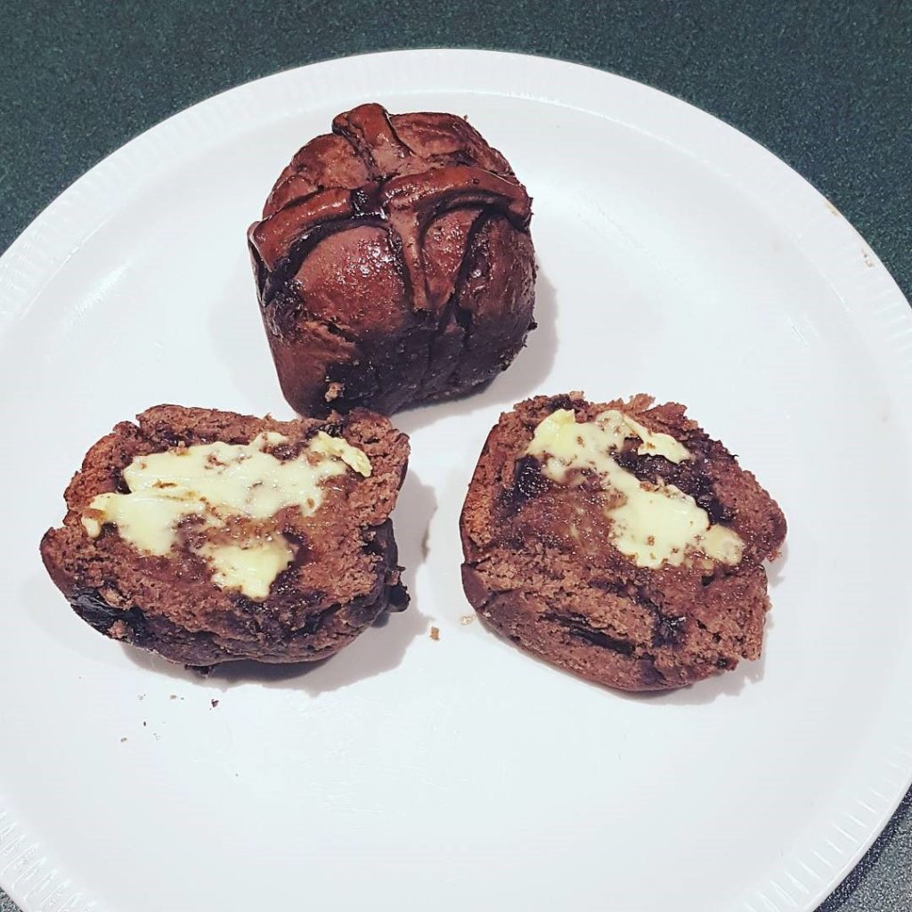 choc cross scone