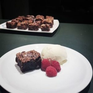 fudgey pecan brownie